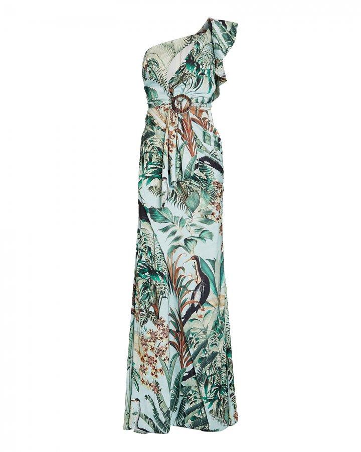 Eden Floral One-Shoulder Gown
