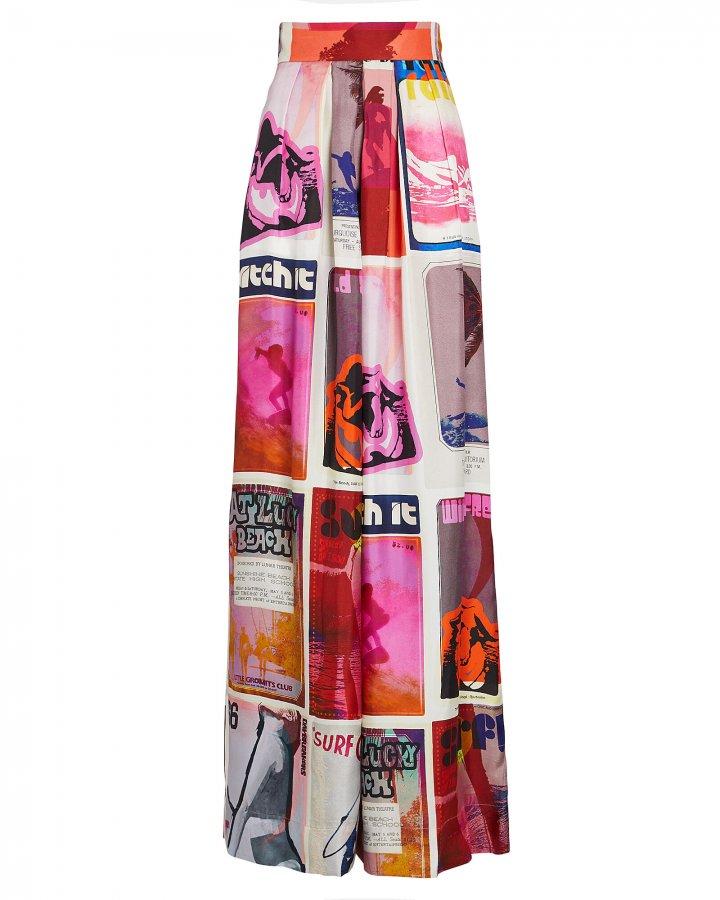 Wavelength Printed Silk Pants