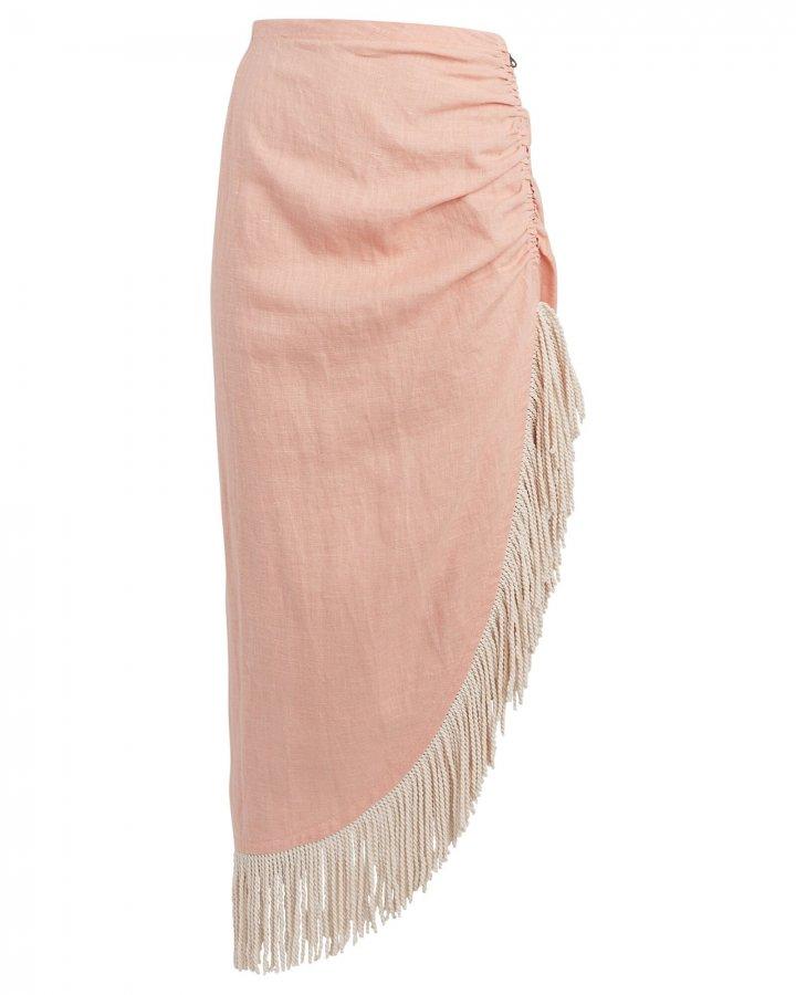 Mallorca Draped Linen Skirt
