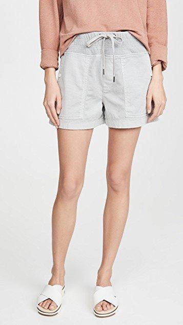 Cotton Slub Military Shorts
