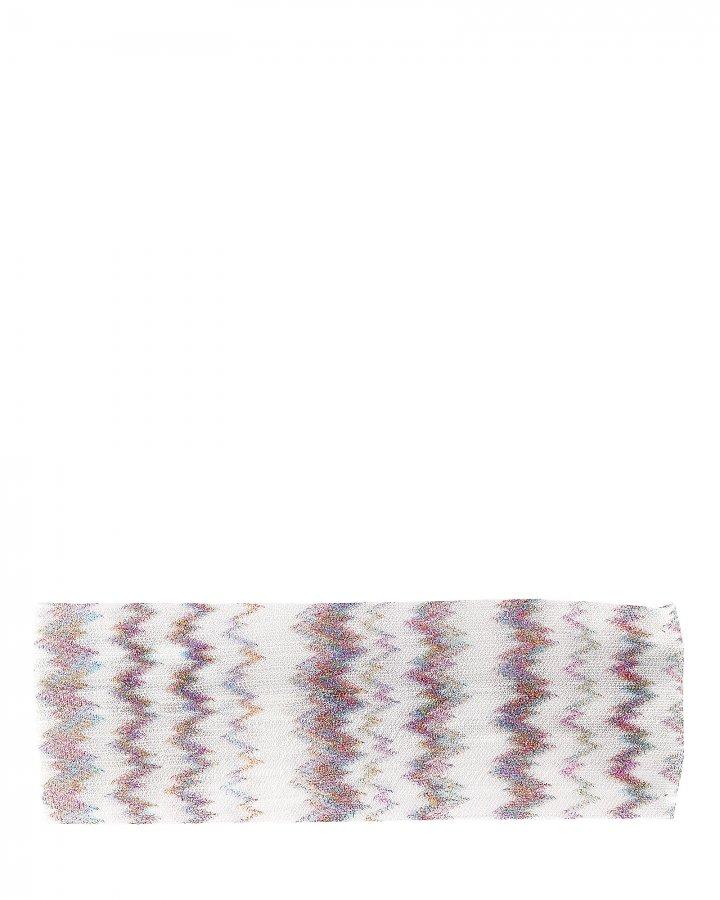 Zig Zag Lurex Knit Headband