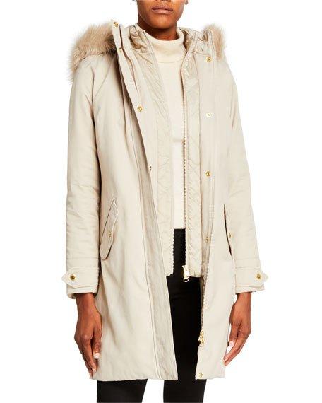 Bute Faux Fur Hooded Jacket
