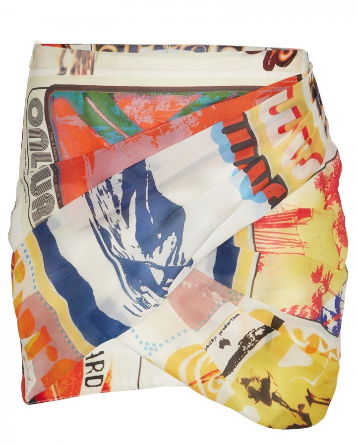 Brightside Printed Wrap Skirt