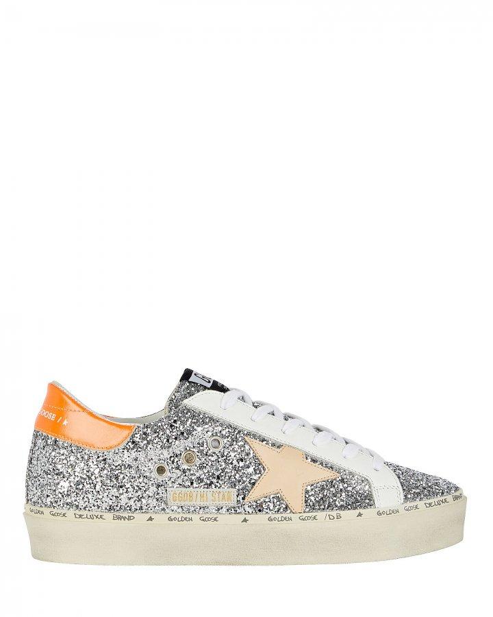 Hi Star Low-Top Glitter Sneakers