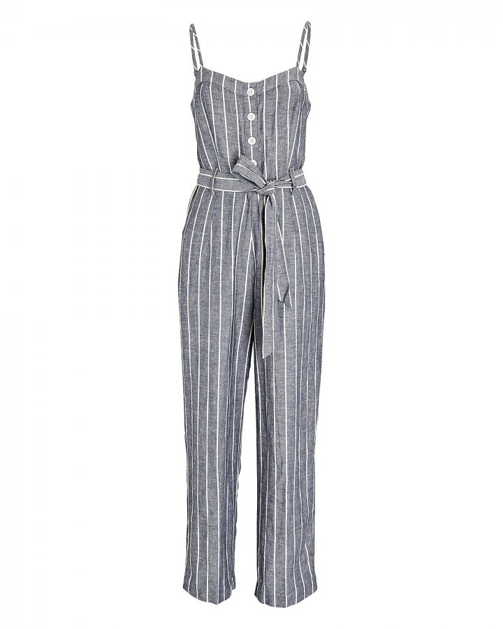 Harper Striped Sleeveless Jumpsuit