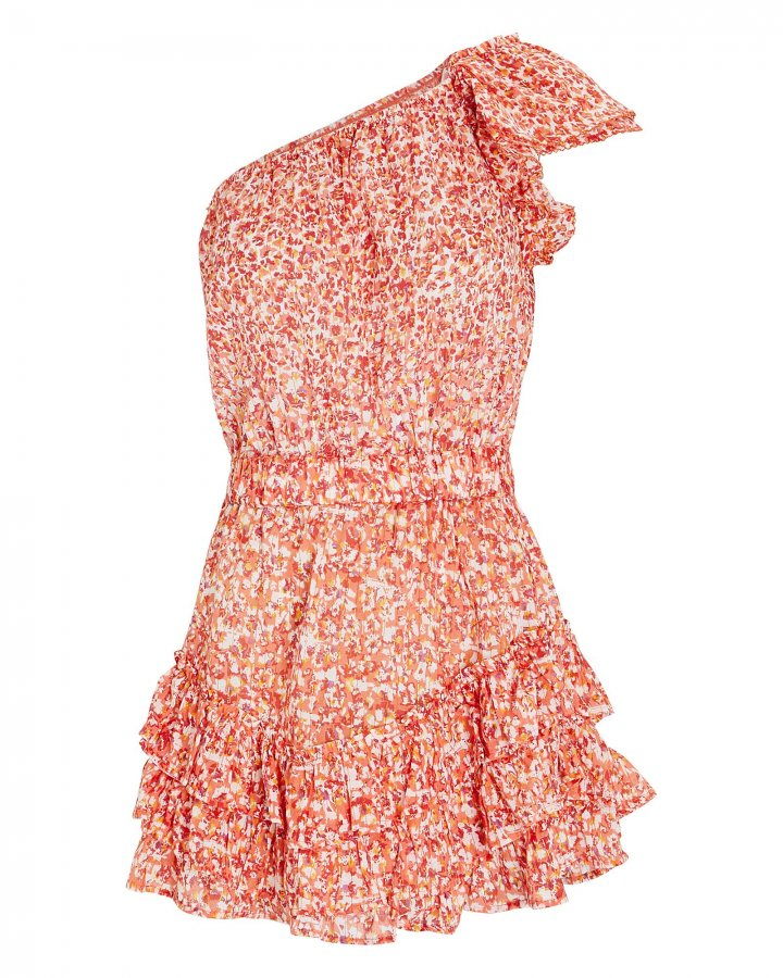 Kaia Ruffled One-Shoulder Dress