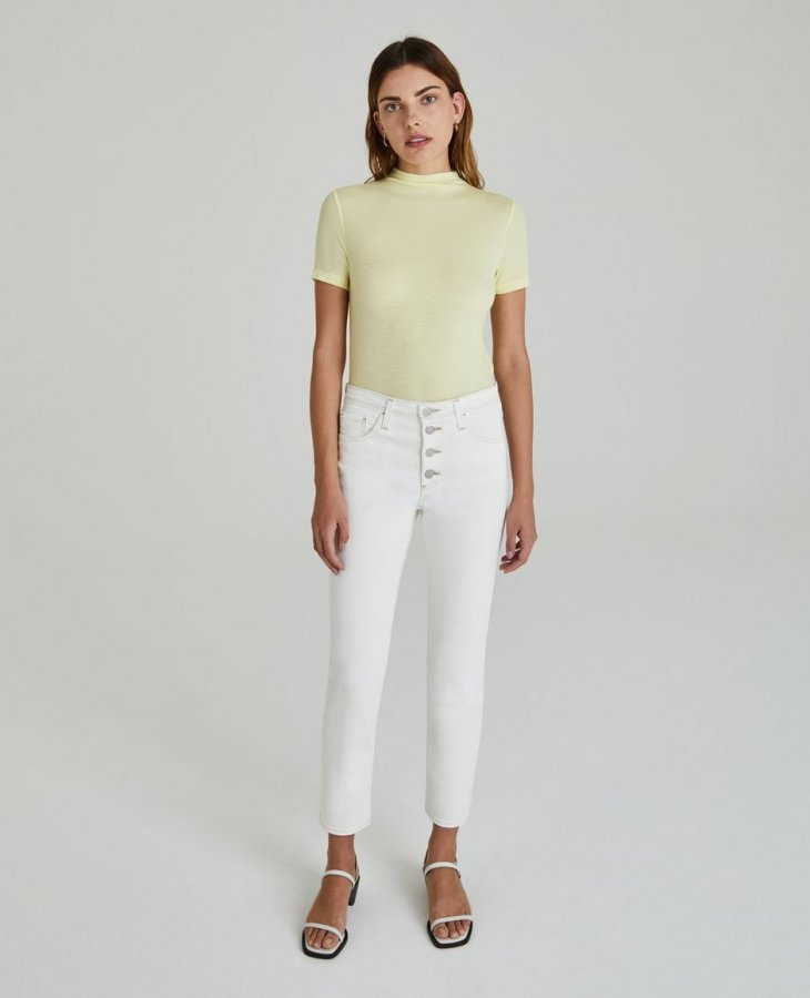 The Isabelle Button-Up in Moderne White  at AG Jeans Official Store