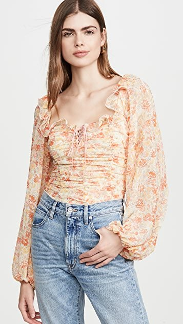Mabel Printed Blouse