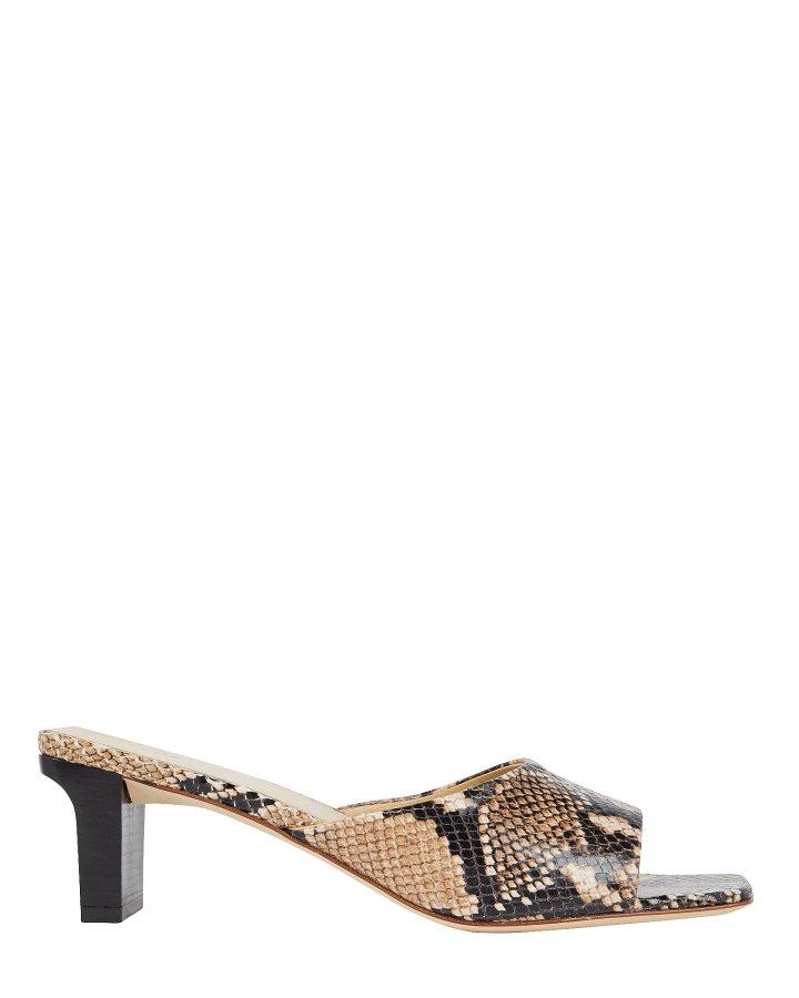 Katti Embossed Slide Sandals