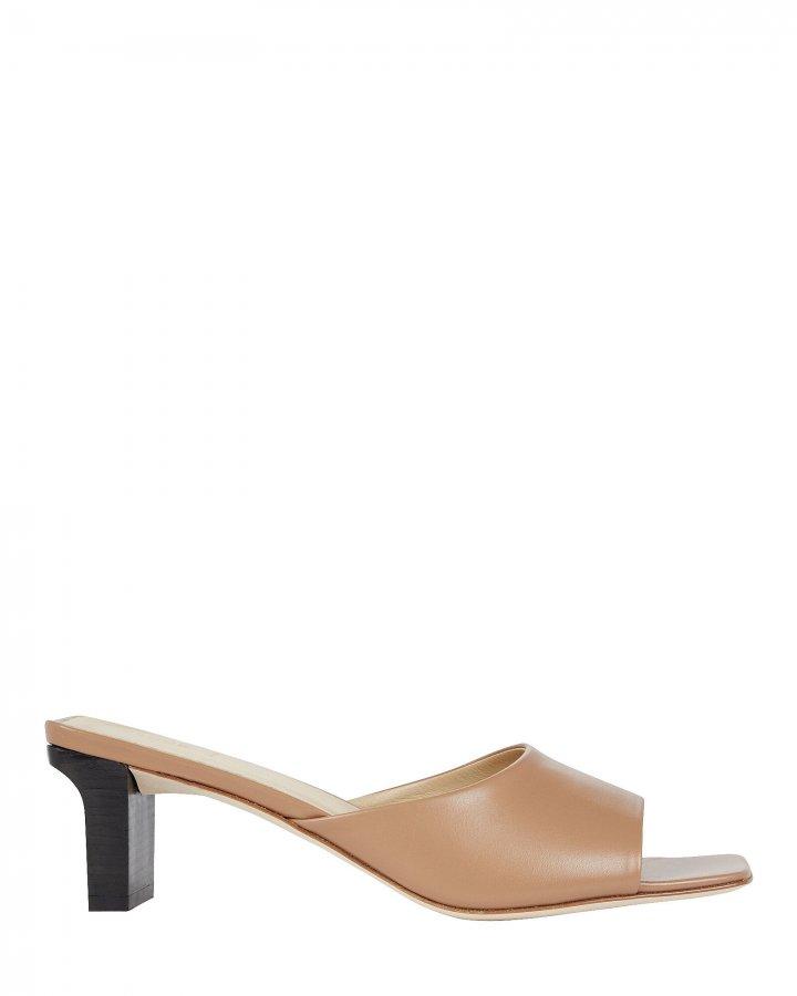 Katti Leather Slide Sandals