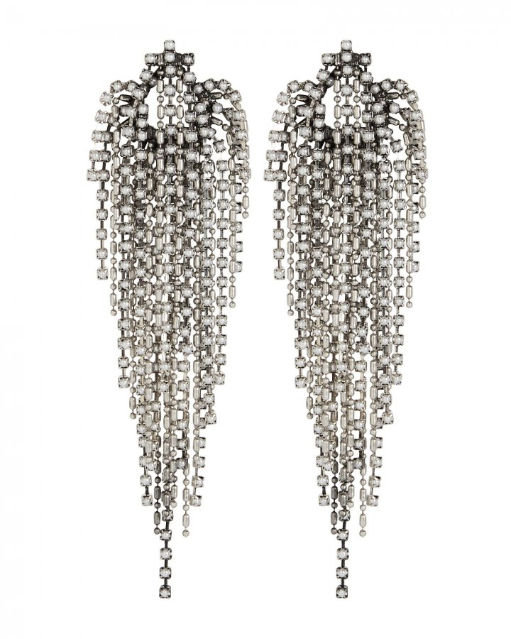 Esme Fringe Faux Pearl Earrings