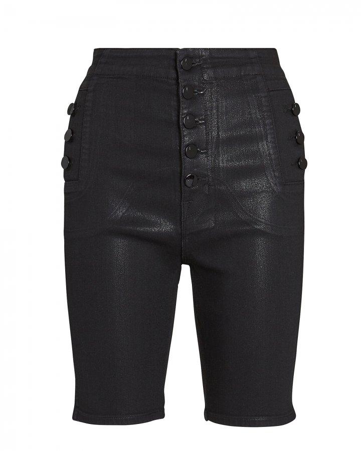Natasha Coated Denim Shorts