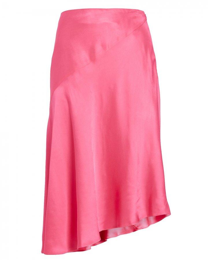 Asymmetrical Satin Skirt