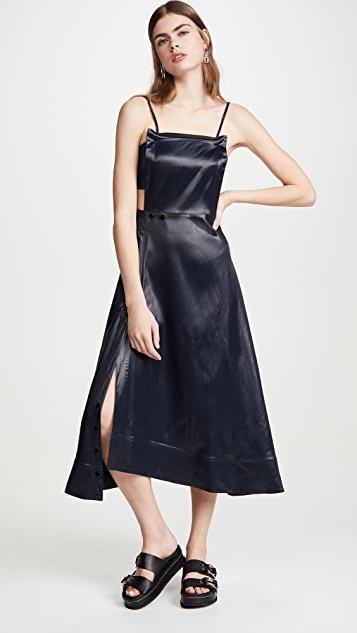 Lacquered Cutout Dress