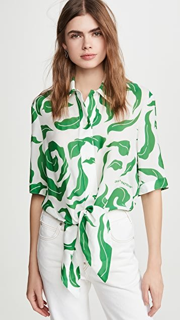 Leaves Baseball Knot Shirt