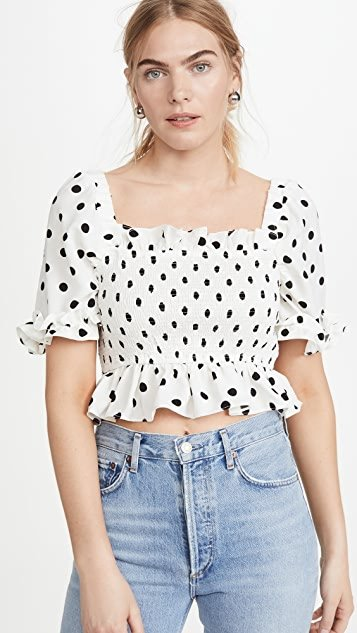 Polka Dot Cropped Top
