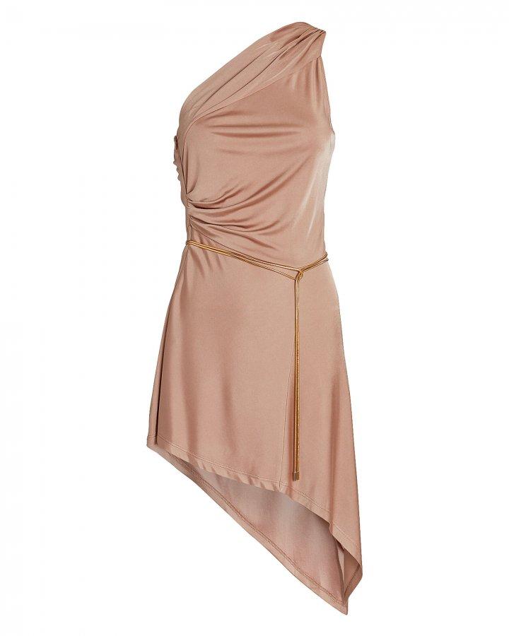 Mellie One-Shoulder Asymmetrical Mini Dress