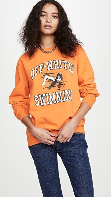 Off-White Swimming Crew Neck Sweatshirt