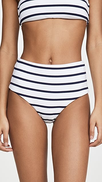 Retro Stripe Dita High Waisted Bikini Bottoms