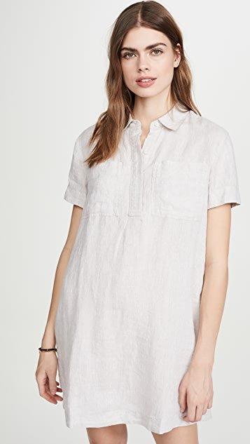 Linen Pocket Shirtdress