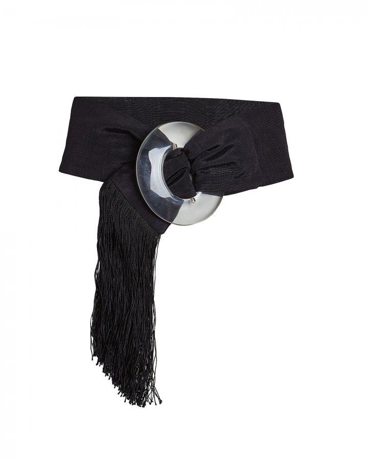 Brigitte Fringed Taffeta Waist Belt