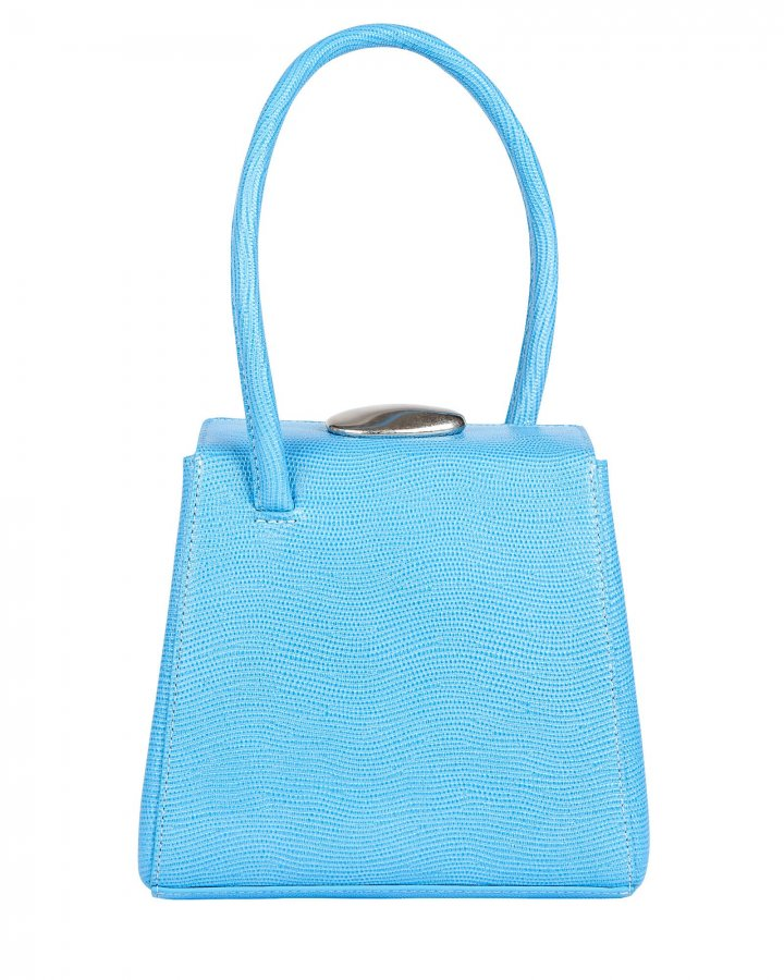 Madame Lizard-Embossed Leather Bag