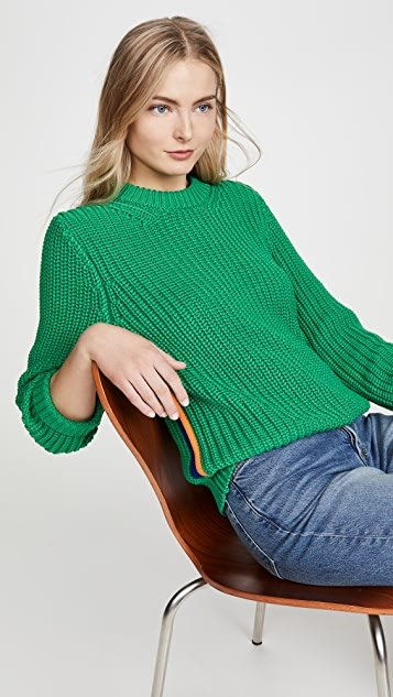 Performance Cotton Ribbed Sweater