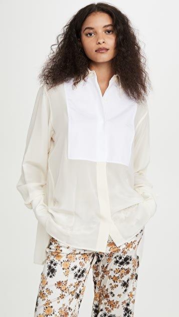 Contrast Bib Shirt