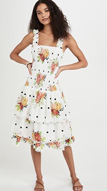 White Nanaju Midi Dress
