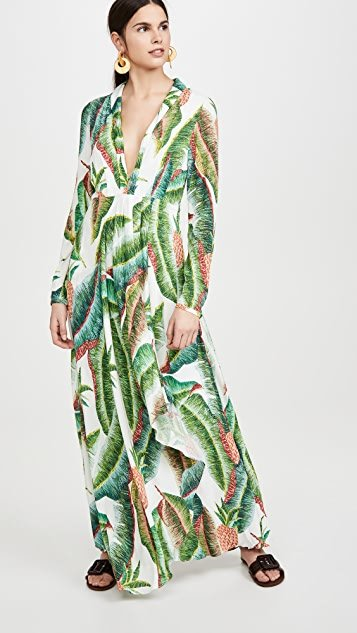 Forest Palm Maxi Dress