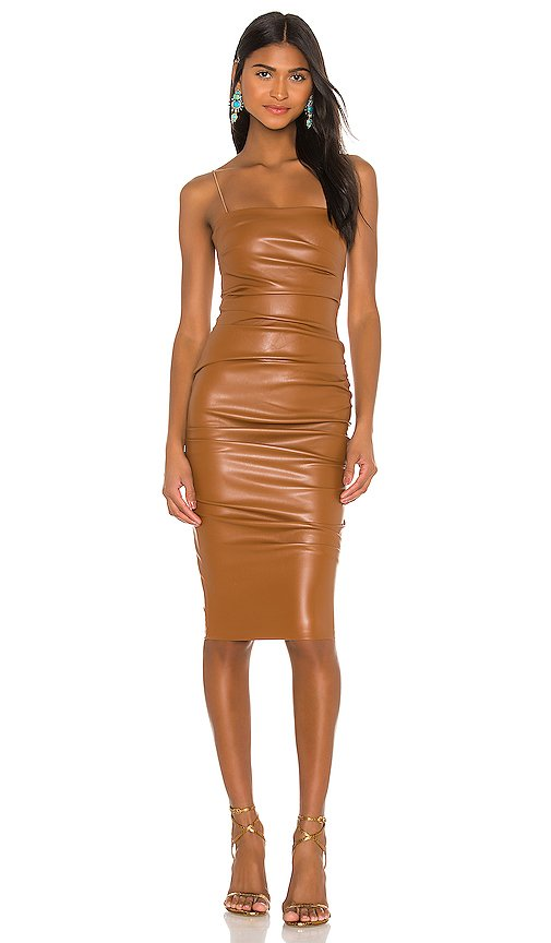 Posse x REVOLVE Faux Leather Midi Dress