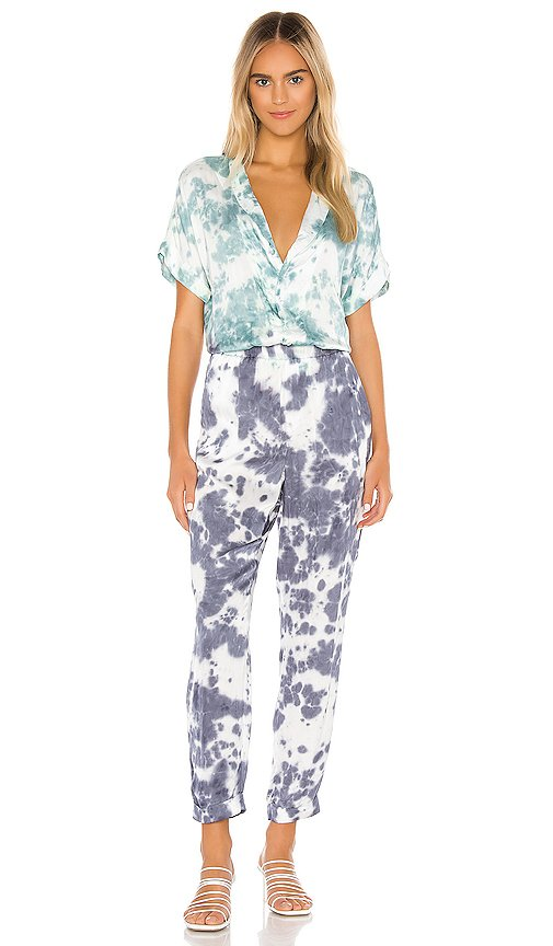 Short Sleeve Rolled Cuff Jumpsuit