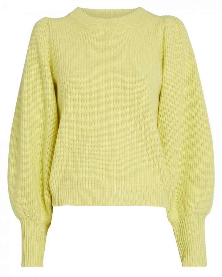 Eliana Puff Sleeve Cashmere-Blend Sweater