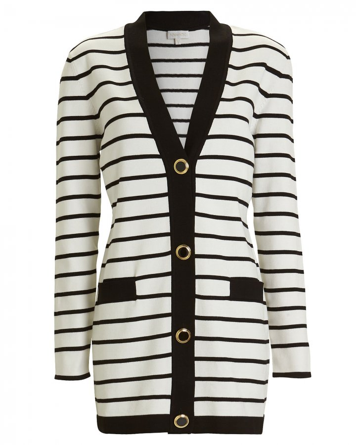Sybilla Striped Cardigan Sweater Dress