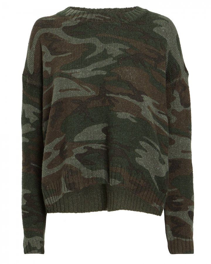 Perci Camo Wool-Alpaca Sweater