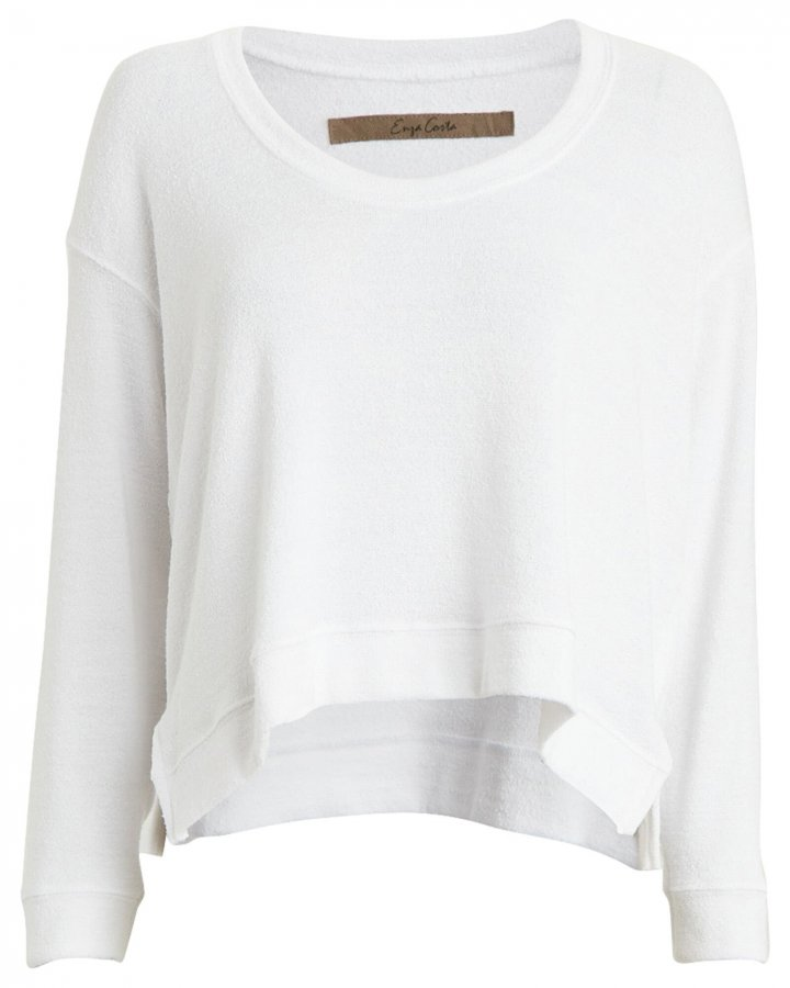 Bouclé Scoop Neck Sweater