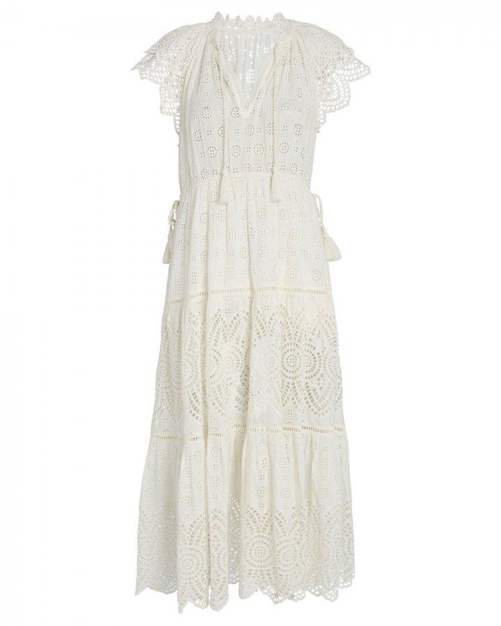 Gianna Eyelet Midi Dress