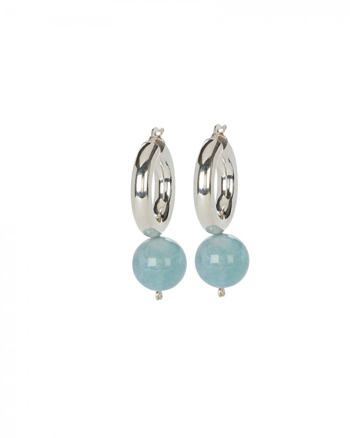 Agra Drop Aquamarine Hoops