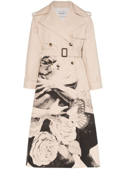 Valentino X Undercover Graphic Lovers Print Trench Coat Aw19 | Farfetch.com
