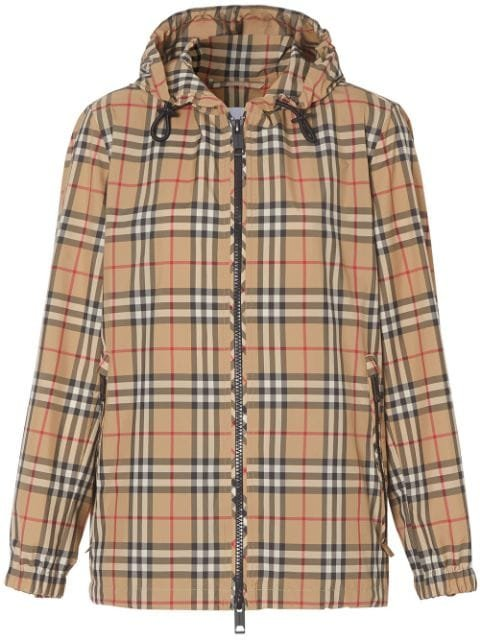 Burberry Vintage Check Hooded Jacket Ss20 | Farfetch.com