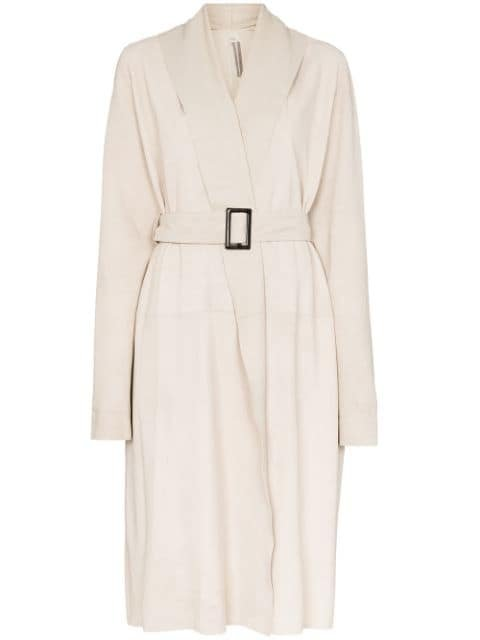 Rick Owens Mountain Belted Coat Ss20 | Farfetch.com