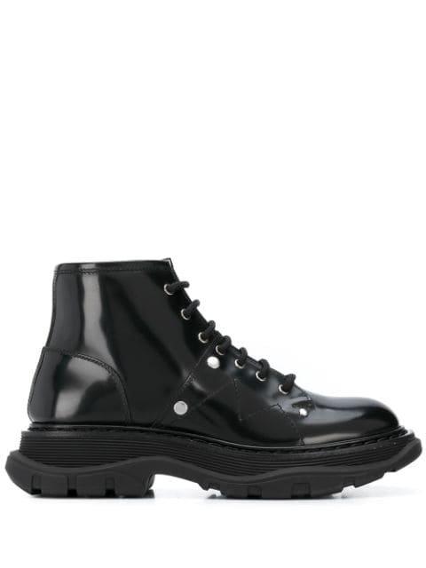 Alexander Mcqueen Tread Lace-Up Boots Ss20   Farfetch.com