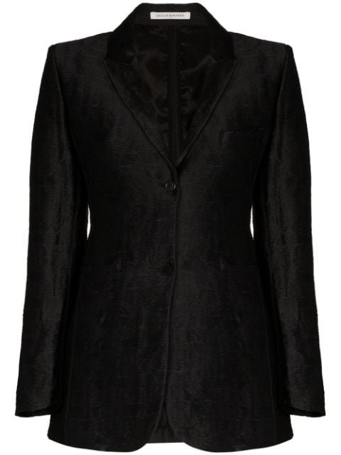 Cecilie Bahnsen Kristine Hammered Silk-Jacquard Blazer Ss20 | Farfetch.com