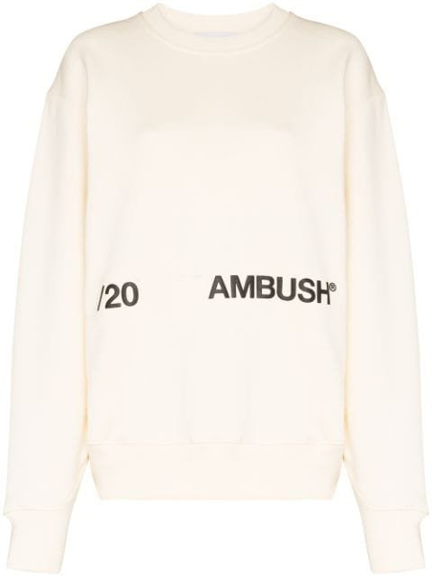 Ambush Logo-Print Cotton Sweatshirt Ss20 | Farfetch.com