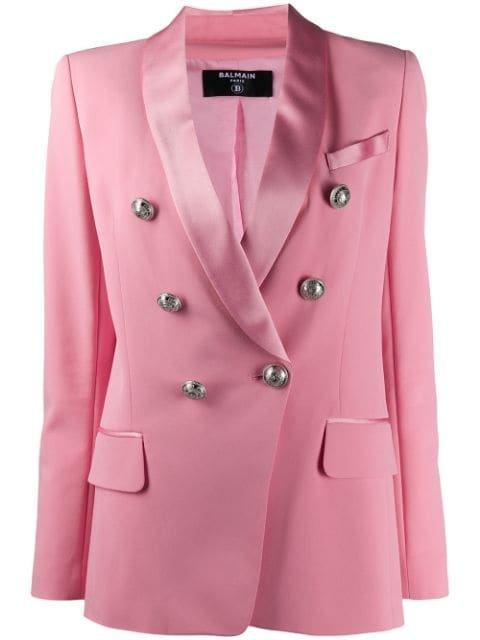 Balmain Double-Breasted Blazer Ss20 | Farfetch.com