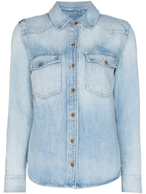 Frame Denim Shirt Ss20 | Farfetch.com