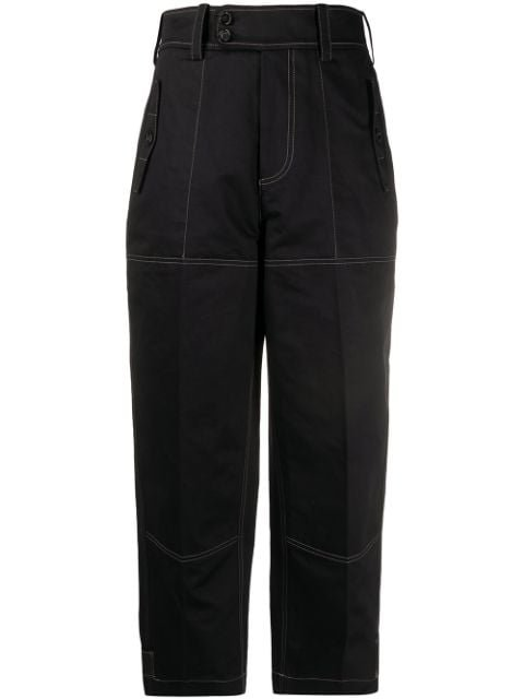Marni Loose Fit Cropped Trousers Ss20 | Farfetch.com
