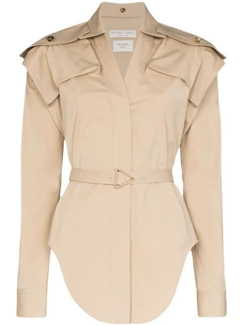 Bottega Veneta Belted Stretch Shirt | Farfetch.com