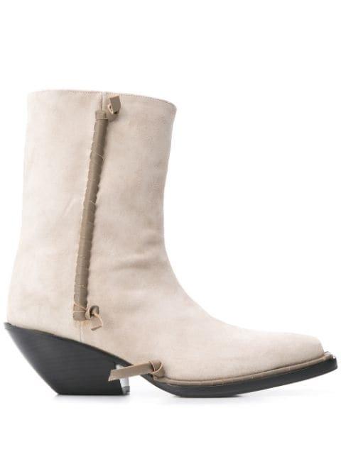 Acne Studios Suede Ankle Boots Ss20 | Farfetch.com