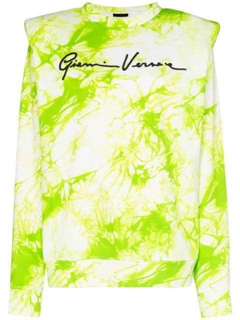 Versace Tie-Dyed Logo-Print Sweatshirt Ss20 | Farfetch.com